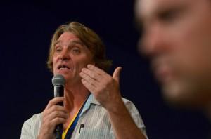 Melvin Burgess at Edinburgh World Writers' Conference 20 Aug 2012 c Pascal Saez